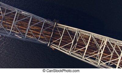HD - Flight over the railway bridge