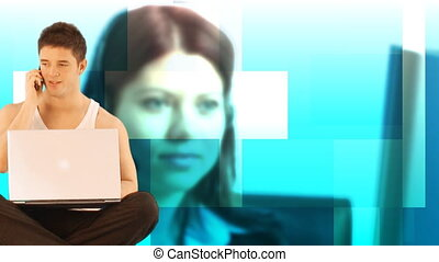 Hd footage and animation of Customer service representative