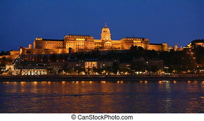 Budapest Parliament at night - HD footage of Budapest...