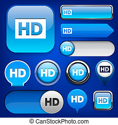 HD high-detailed web button collection.