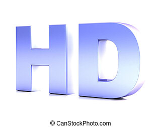 HD hight definition - HD three dimensional chromium word CG...