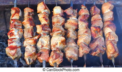 HD Kebab roasted in the grill