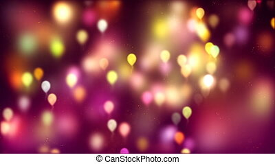 HD Loopable Background with nice abstract flying balloons
