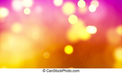 HD Loopable Background with nice abstract golden bokeh
