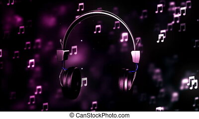 HD Loopable Background with nice abstract headphone
