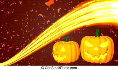 HD Loopable Background with nice abstract pumpkins