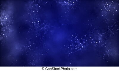 HD Loopable Background with nice blue abstract dust