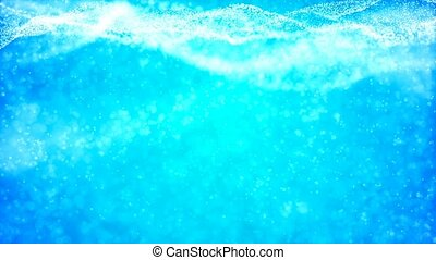HD Loopable Background with nice blue abstract waves