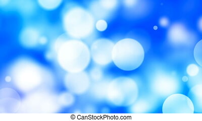 HD Loopable Background with nice blue large bokeh