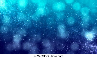 HD Loopable Background with nice blue bokeh