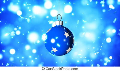 HD Loopable Background with nice christmas blue ball