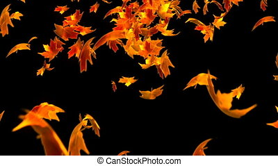 HD Loopable Background with nice falling leaves