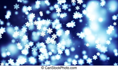 HD Loopable Background with nice falling snowflakes
