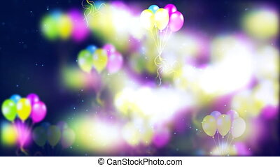 HD Loopable Background with nice flying balloons