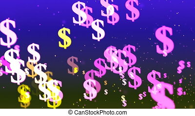HD Loopable Background with nice flying dollars