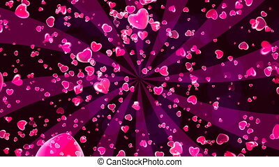 HD Loopable Background with nice flying hearts