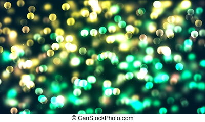 HD Loopable Background with nice glowing green bokeh