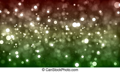 HD Loopable Background with nice glowing red green bokeh