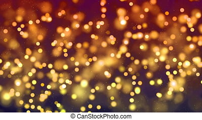 Hd Loopable Background With Nice Golden Bokeh Hd Loopable