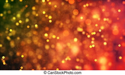 HD Loopable Background with nice golden particles