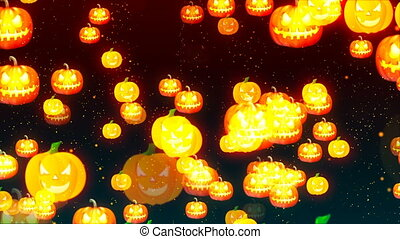 HD Loopable Background with nice halloween pumpkins