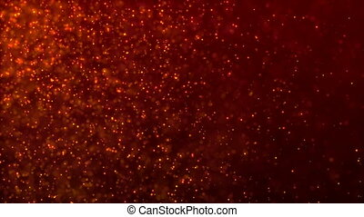 HD Loopable Background with nice red particles
