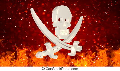 HD Loopable Background with nice rotating pirate symbol