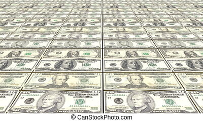 HD Loopable Background with printing dollar bill money - HD...