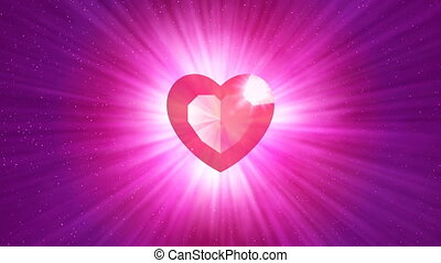 hd, loopable, tło, z, ładny, abstrakcyjny, lustrzany, serce