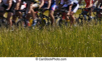 hd, -, marathon., roues bicyclette