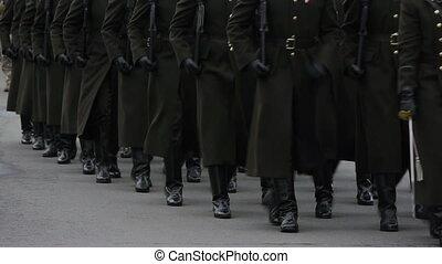 hd, -, militair, parade., soldaten