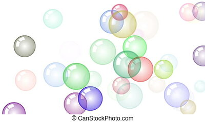 HD Motion background with moving soap bubbles