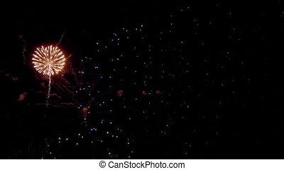 HD - Multicolored firework balls