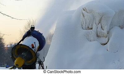 hd, -, neige, générateur