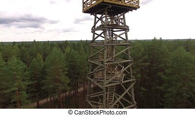 HD - Observation tower in the forest. scene01
