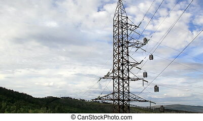 HD Panorama of High voltage power line