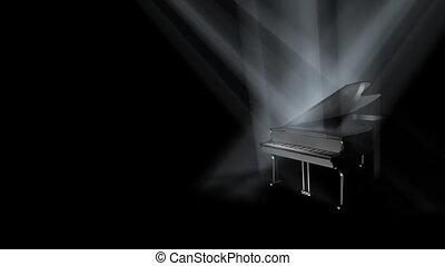 (hd), piano, boucle, étape