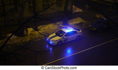 HD - Police car on night street