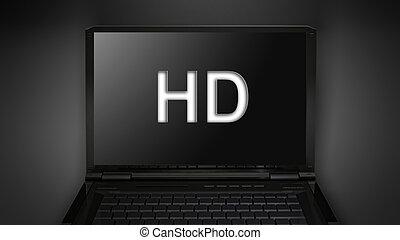 HD quailty theme is display on laptop screen