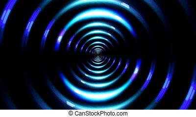 HD ring lens flare forward blue