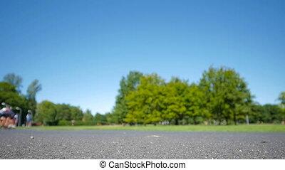 HD - Roller Sports. blurred race