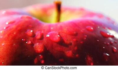 HD Rotating red apple macro