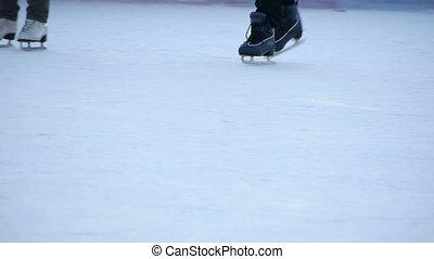 HD - Skating. Skates close-up