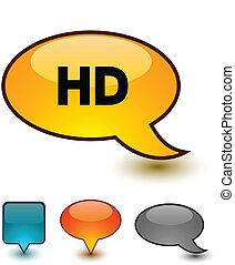HD speech comic icons.