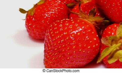 HD - Strawberry slide close-up