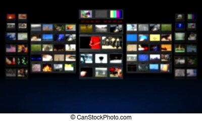 HD - Television studio. Blurred BG