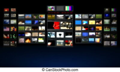 HD - Television studio. Blurred BG