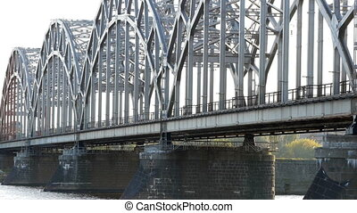 HD - Train on a railway bridge