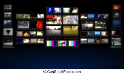 HD - TV studio. Blurred background