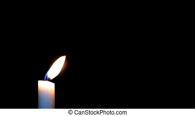 HD - White Candle in the Wind with black background